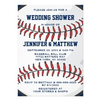 cute baseball bridal shower invitations