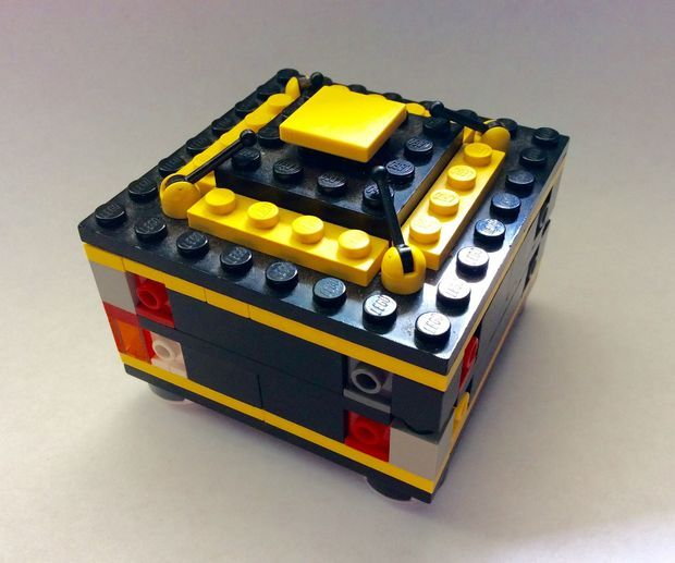 How to Make Lego Puzzle Box No. 4 'Yellow'! | Legos, Box and Room
