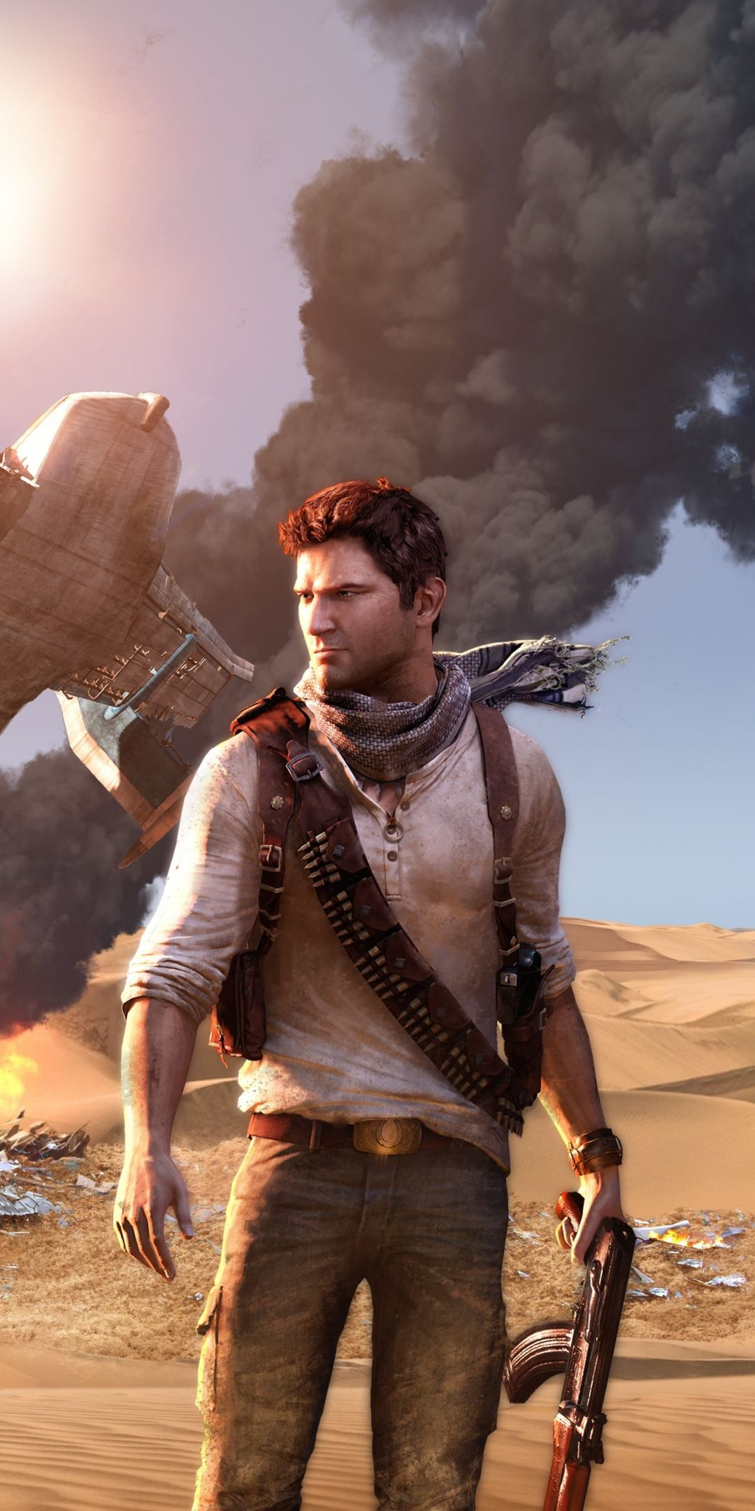 Uncharted Main In Desert Video Game Ps4 1080x2160 Wallpaper Uncharted Uncharted Game Video Games