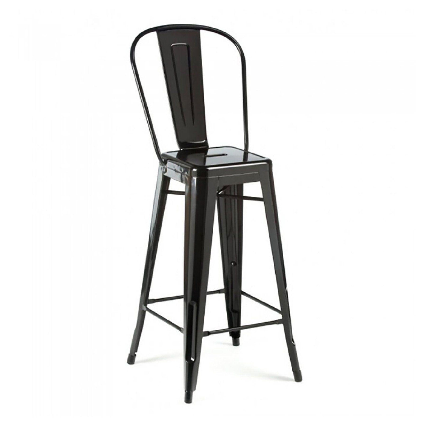 Pleasing Design Lab Mn Dreux High Back Barstool Set Of 4 Ls 9100 Andrewgaddart Wooden Chair Designs For Living Room Andrewgaddartcom