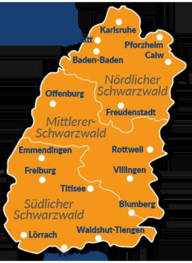 Mittelgebirge Deutschland Karte.Reiseführer Schwarzwald Mit Hund Willkommen Im Größten