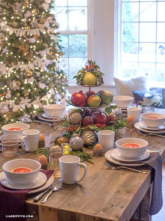 Sneak Peak Of My Christmas Morning Breakfast Table Brunch Table Decorations Breakfast Table Brunch Decor