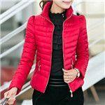2016Fashion New Hot Winter Jacket Women Slim Office Ladies Zippers Plus Size Ladies Coats A031