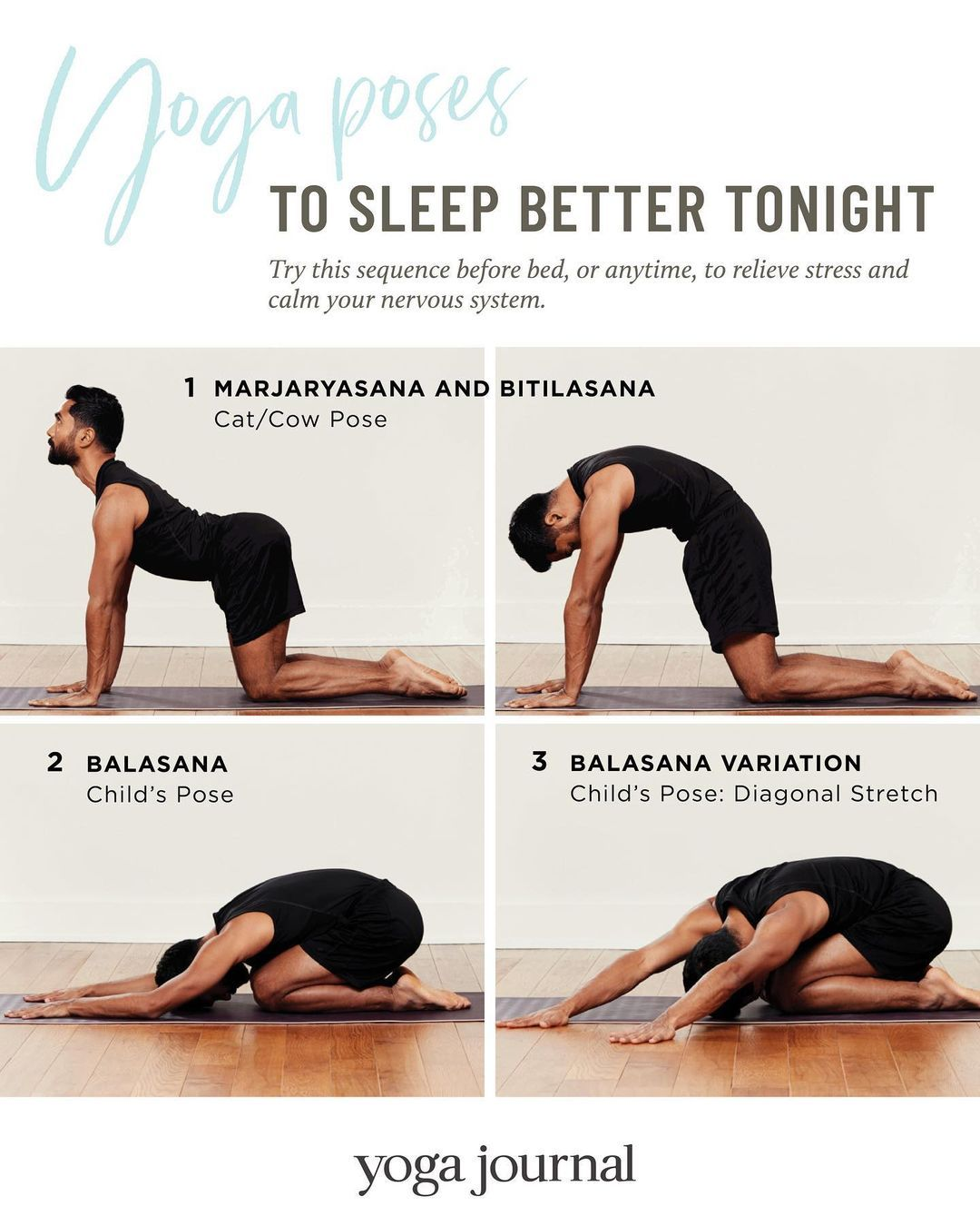 Yoga Journal On Instagram Yoga Poses To Sleep Better Tonight One Of The Reasons That So Many Of Us Find It Hard To Yoga Journal Better Sleep Yoga Poses
