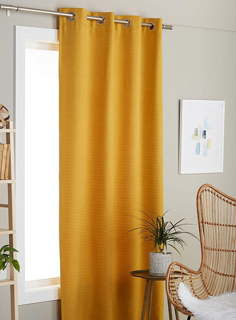 Fine Herringbone Curtain 135 X 220 Cm Curtain Decor Curtains Yellow Curtains