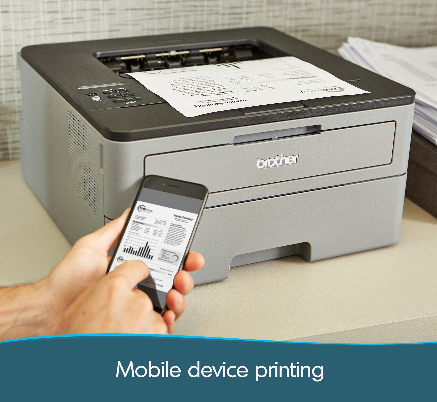 Brother Compact Monochrome Laser Printer Hll2350dw Wireless Printing Duplex Twosided Printing Amazon Dash Replenishment Laser Printer Printer Wireless Printer
