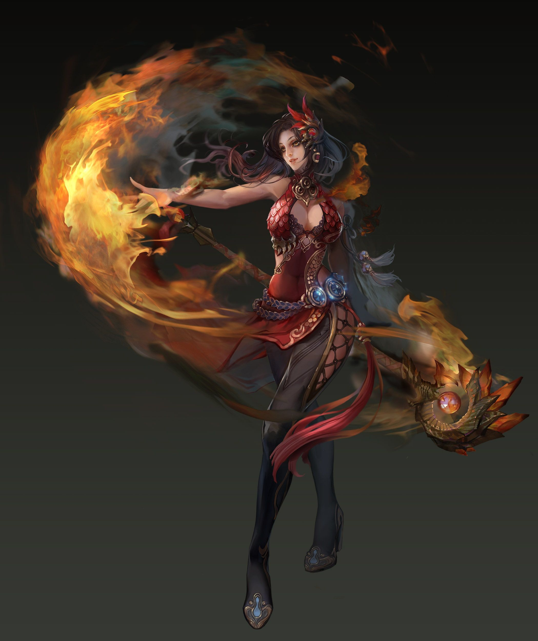 Pyromancer (With images) Anime art fantasy, Fantasy