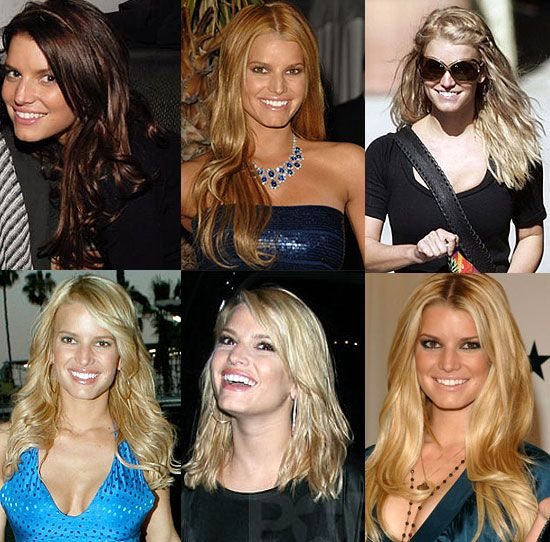 Jessica Simpson Reverse Ombre Haircolor Long Layers