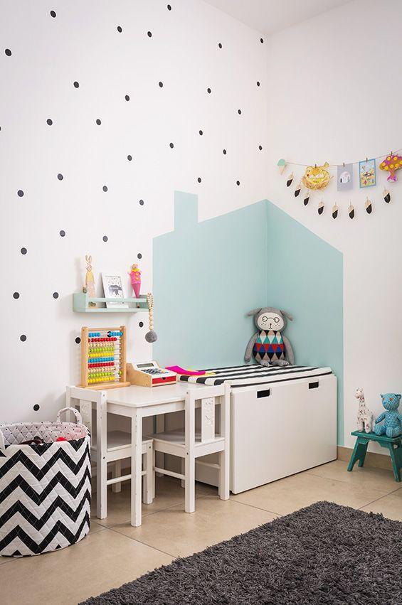 kleine zimmerrenovierung kinderzimmer bunt dekor, gemalte ecke | deko ideen | pinterest | kinderzimmer, kinderzimmer, Innenarchitektur