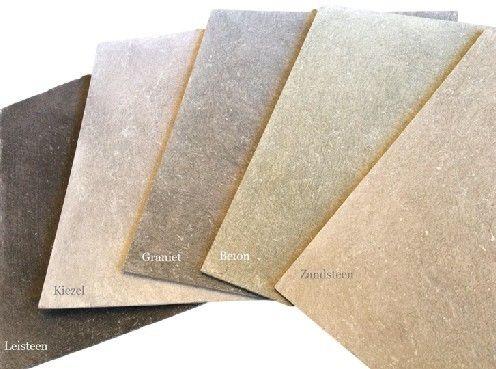 De betonlook verf van l authentique geeft uw muur een beton