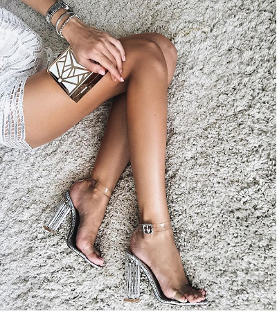 d0250b6c8cb Pin by Rebekka on Style notes   Shoes, Transparent heels, Fashion