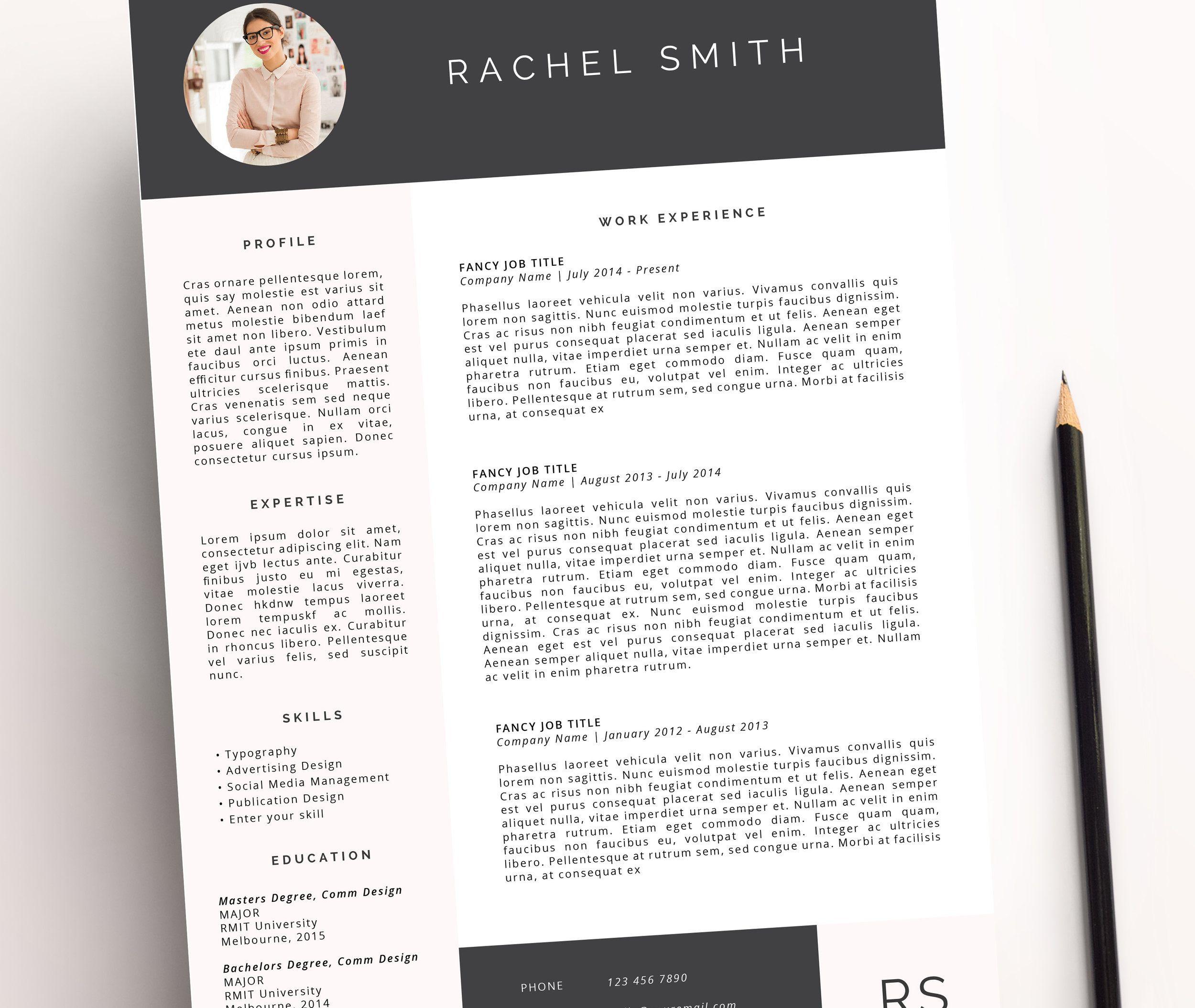 Miss Poppy Design | Resume Template | Word | Creative Resume | Cv