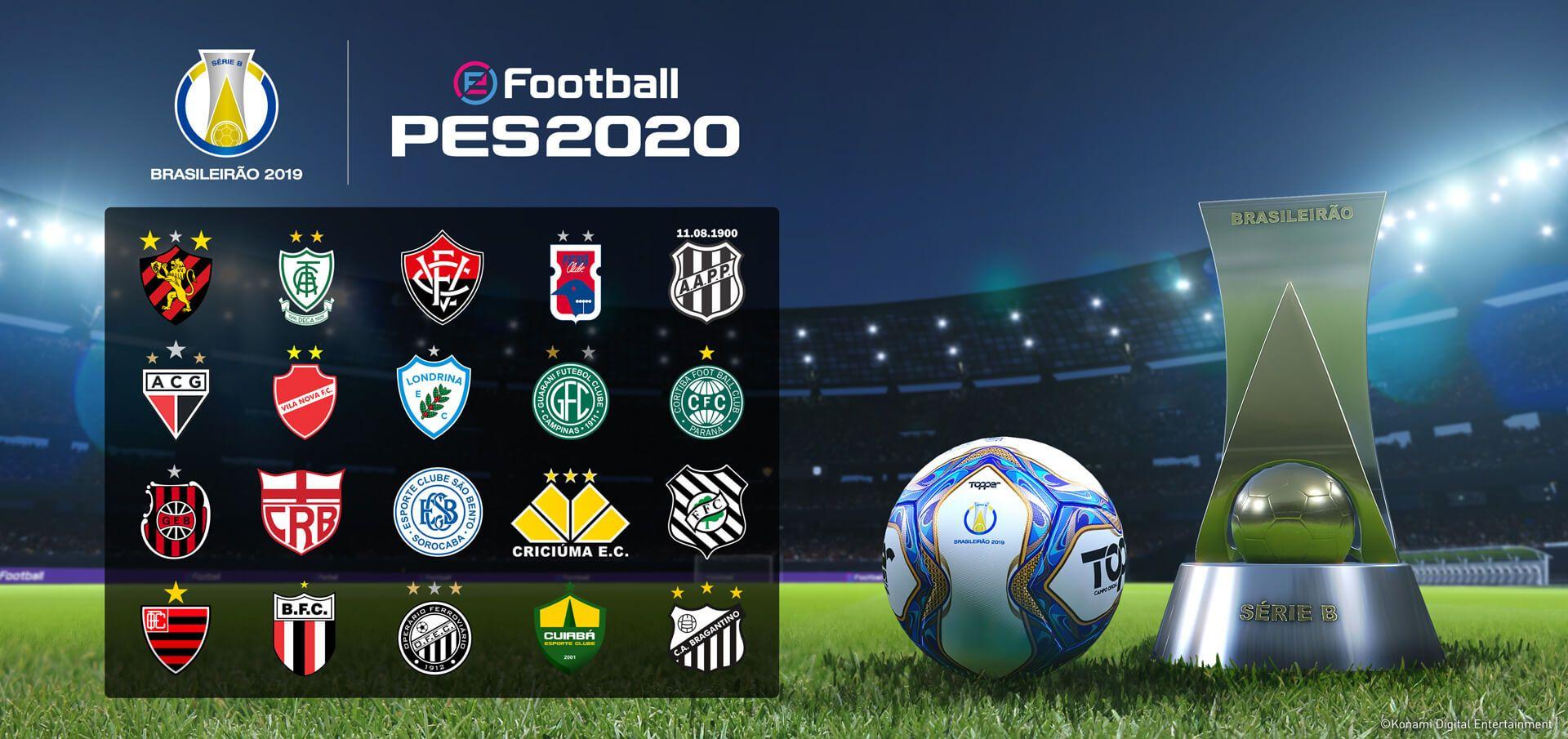 Konami anuncia Vasco da Gama, Atlético Mineiro e Série B