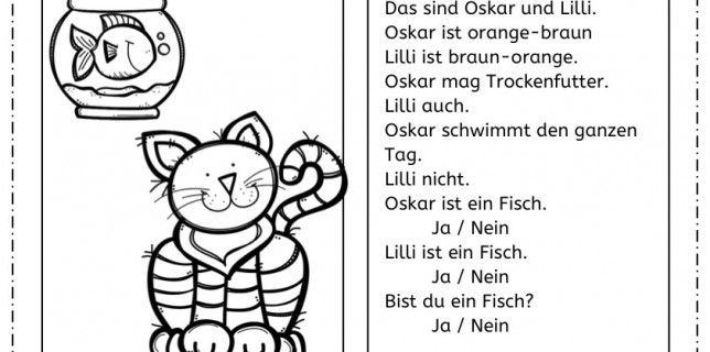 Katzen: Lesen und malen, Katzen, lesen, malen, Legasthenie ...