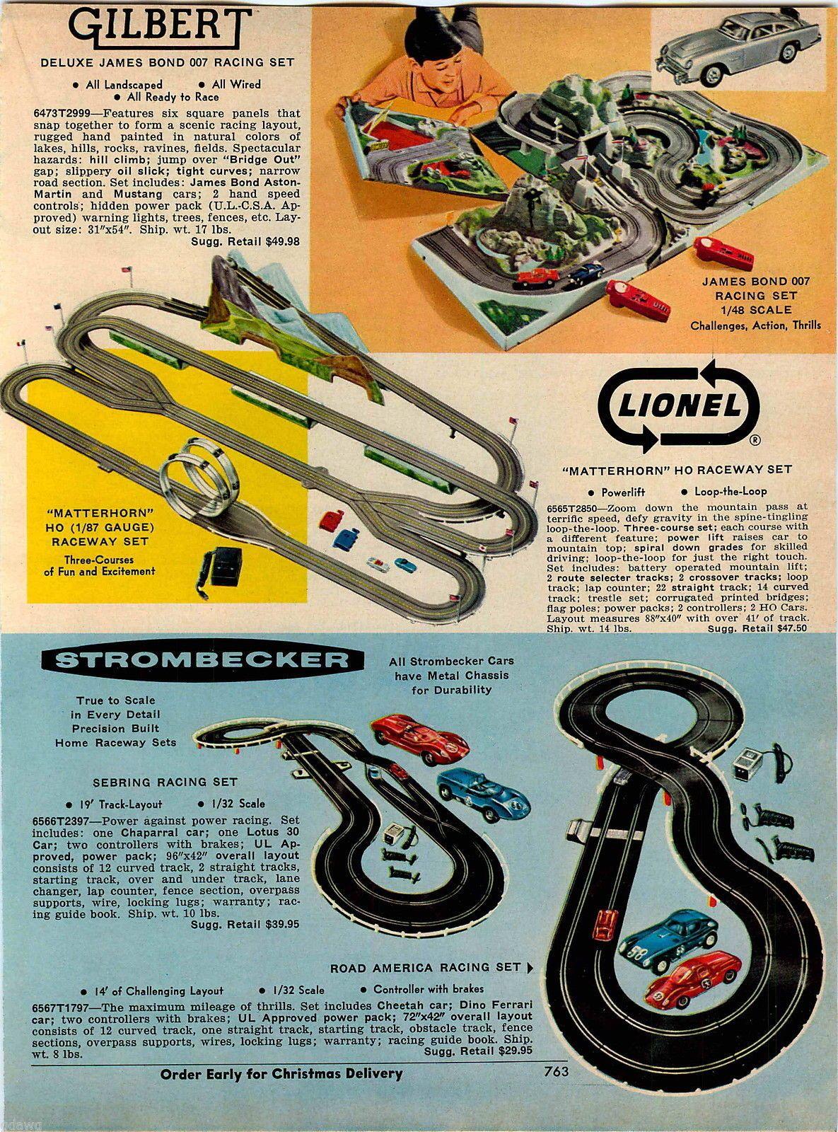 1967 ADVERT Gilbert James Bond 007 Lionel Strombecker Race Car ...