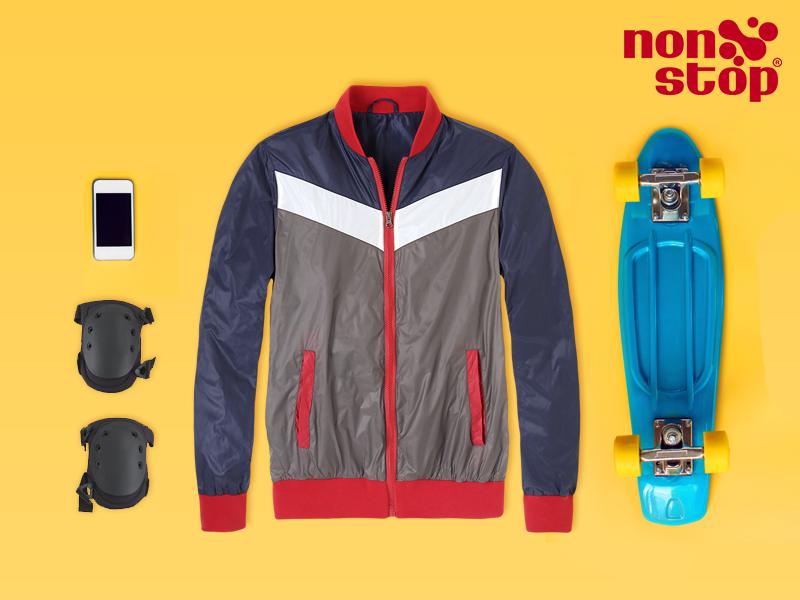 ¡Combina y expresa tu estilo! Crea un look deportivo con esta chamarra #NonStop y luce increíble.