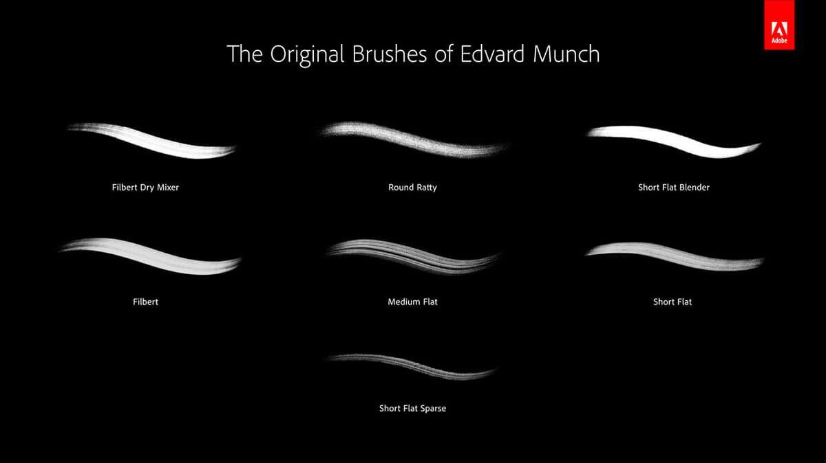 Adobe da vida a los pinceles centenarios de Edvard Munch