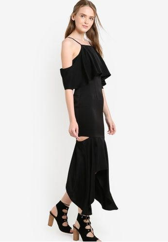 254c31eff06 Cold Shoulder Mermaid Maxi Dress from Preen & Proper in black_1 ...