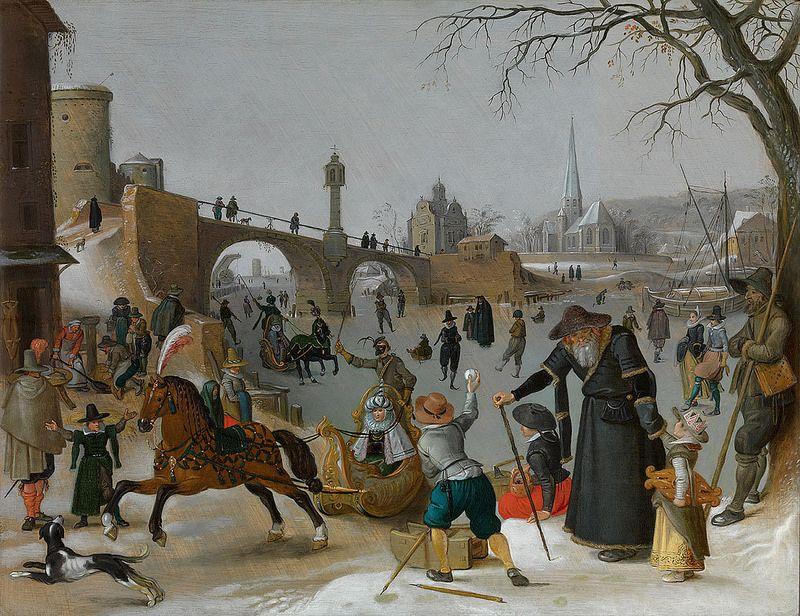 Sebastiaan Vrancx Eisbelustigung Winter Pleasures Hiver