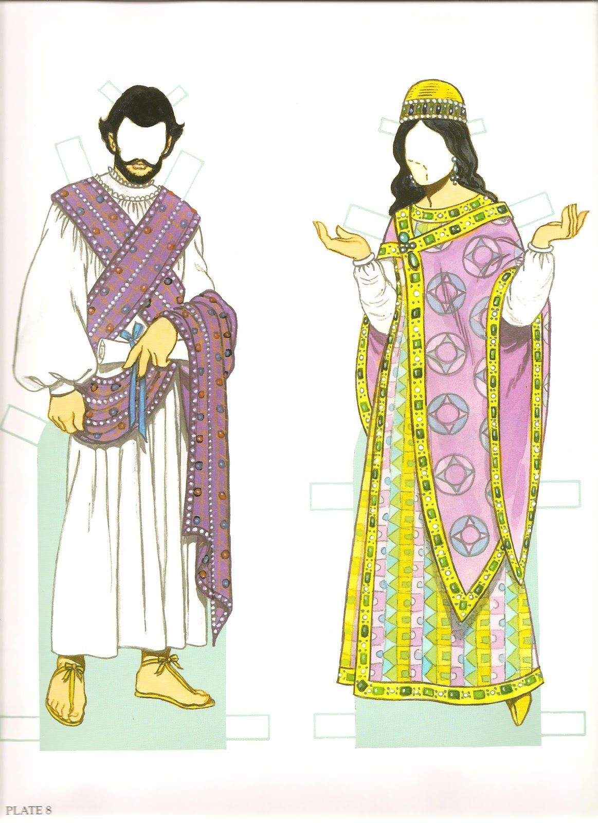 Tom tierney colonial fashions paper dolls - Byzantine Costumes Paper Dolls By Tom Tierney Dover Publications Inc 2002