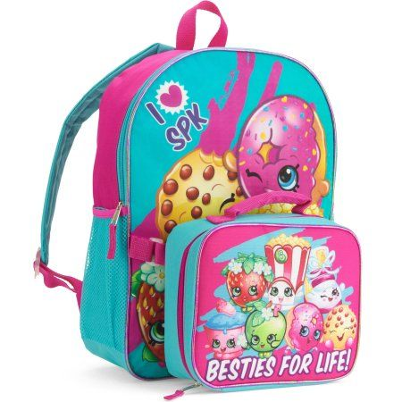 "Brand New Shopkins Backpack 16"" Full Size Book Bag Kids Tote For School"