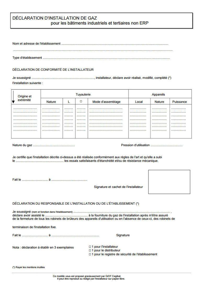 Attestation Sur L Honneur Pac Gaz Arothermique Erp  Certificats