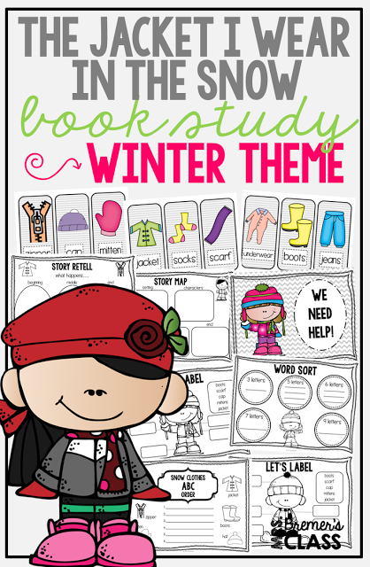 The Jacket I Wear In The Snow Book Study Companion Activities For