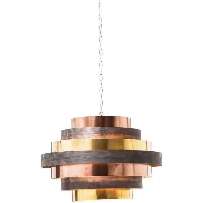 Pendant Lamp Belt Round Coffee Kare Design Lamparas De Techo Techo De Cobre Lamparas Colgantes