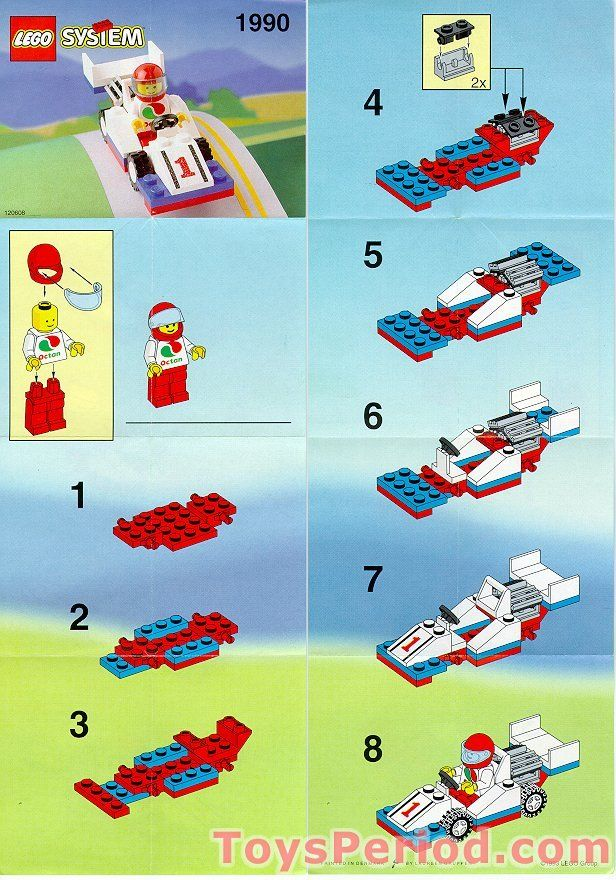 F1 Race Car Instruction Lego Building Pinterest Legos Legos