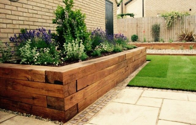 Wood Border With Images Wooden Garden Edging Backyard