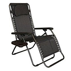 Abba Patio Oversized Recliner Zero Gravity Chair With Detachable Drink Tray
