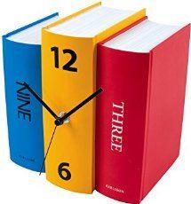 KARLSSON KA4284 Tischuhr Book farbig Papier Design Sjoerd vanHeumen