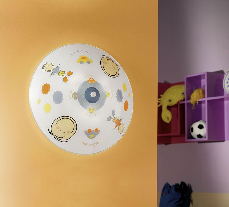 Fußball Decken Lampe Kinderzimmer Glas Wand Leuchte satiniert im Set inkl. LED Leuchtmittel
