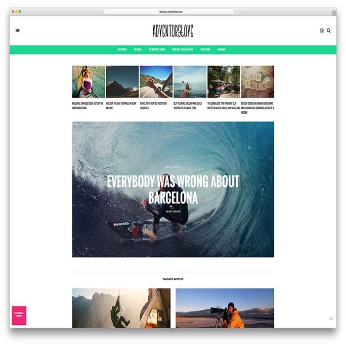 the-voux-travel-blog-wordpress-theme | Travel Themes | Pinterest
