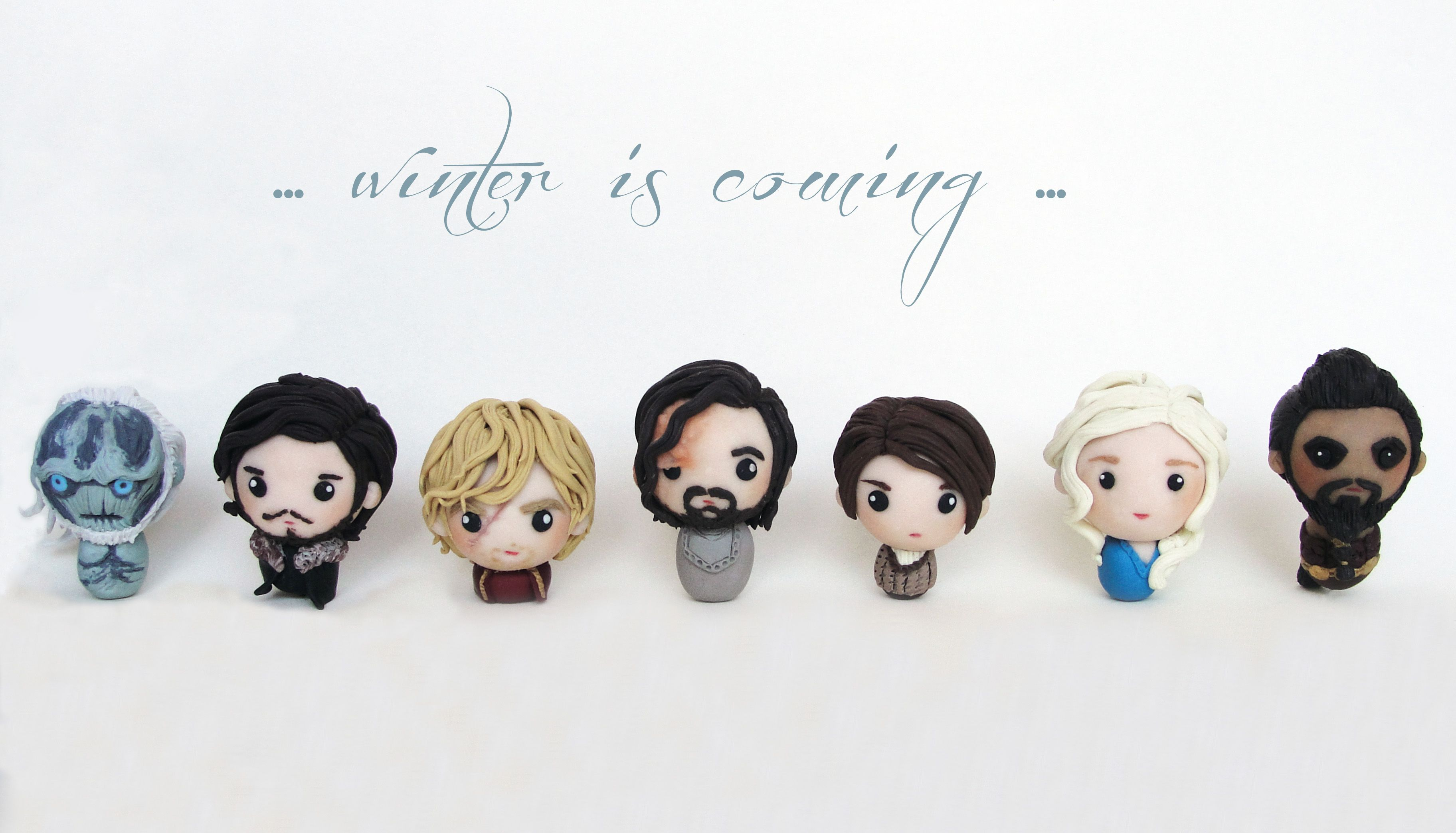 Game Of Thrones Characters Polymer Clay Polymer Clay Miniatures Polymer Clay Charms Polymer Clay