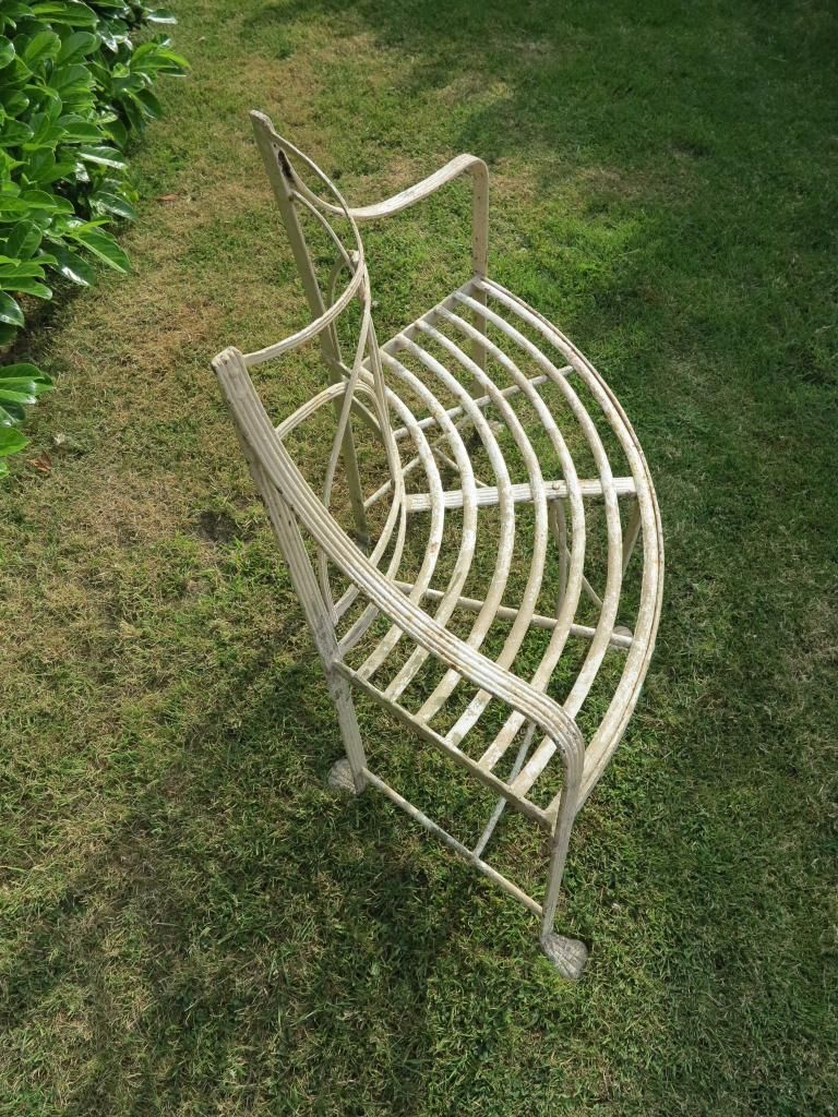 Antique Regency Wrought Iron Curved Garden Seat With Images
