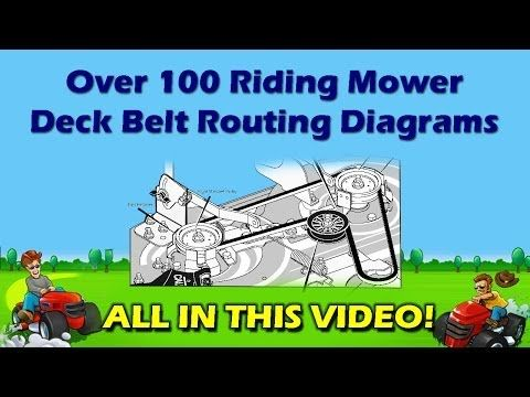Riding Mower And Garden Tractor Belt Routing Diagrams Riding Mower Lawn Mower Service Lawn Mower Repair