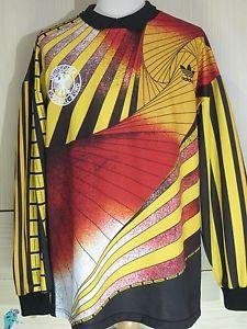 c1bad0259 Germany Euro 91 1992 Adidas Goalkeeper Football Shirt Vintage Soccer Jersey  L