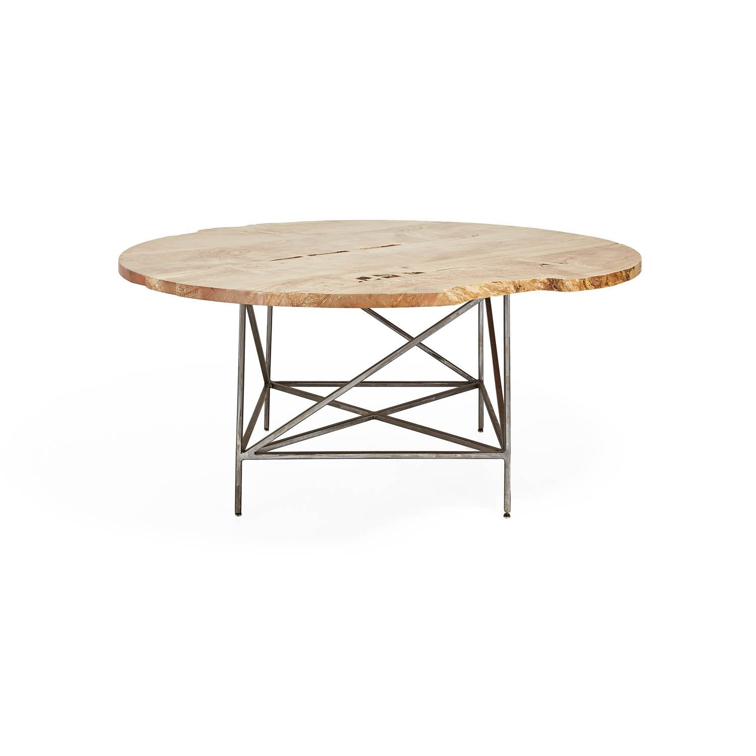 Discover The Jim Denney Bleached Maple Dining Table At ABC Carpet Home Crafted From Spalted Wood And Naturally Its Organic Form Recalls