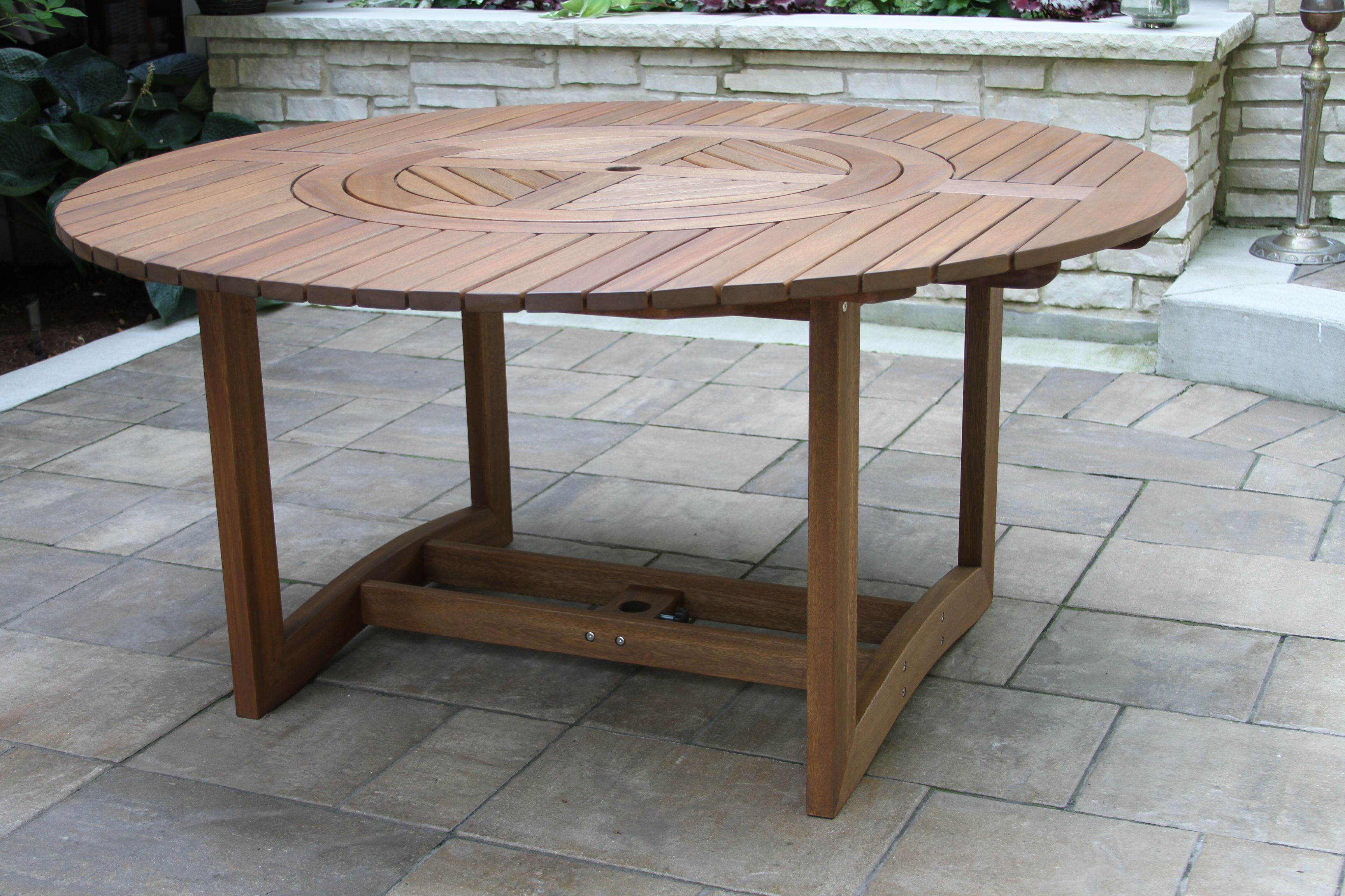 Round Eucalyptus 63 Lazy Susan Dining Table Wood Patio Table Wooden Garden Table Lazy Susan Dining Table [ 2304 x 3456 Pixel ]