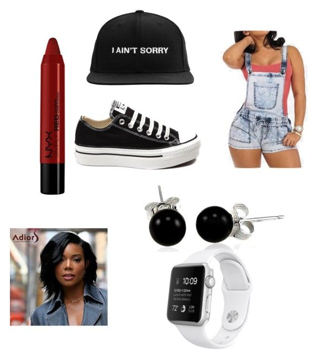 """Untitled #6"" by marcellagarner on Polyvore featuring Converse, Bling Jewelry and NYX"