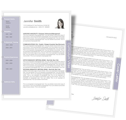 Resume File Format Captivating Cv Template  Cv Template Package Includes Professional Layout For .