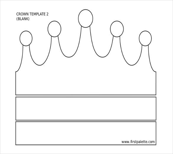 paper crown template for adults