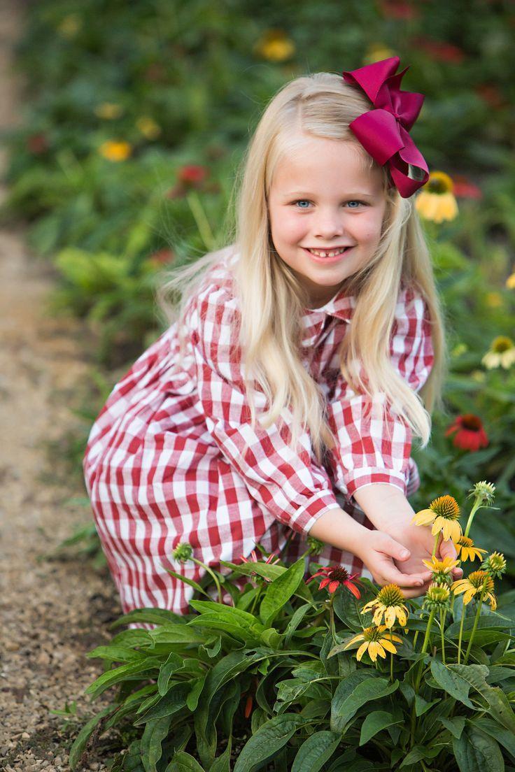 red plaid dress for little girl