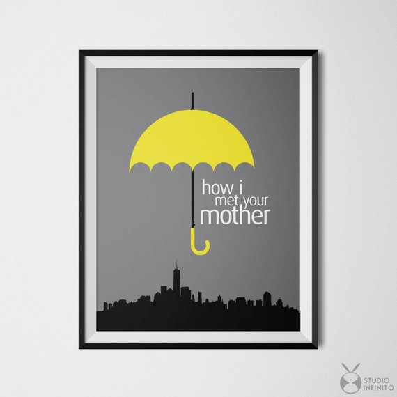 How I Met Your Mother Poster Print Barney Stinson Ted Mosby Wall Art