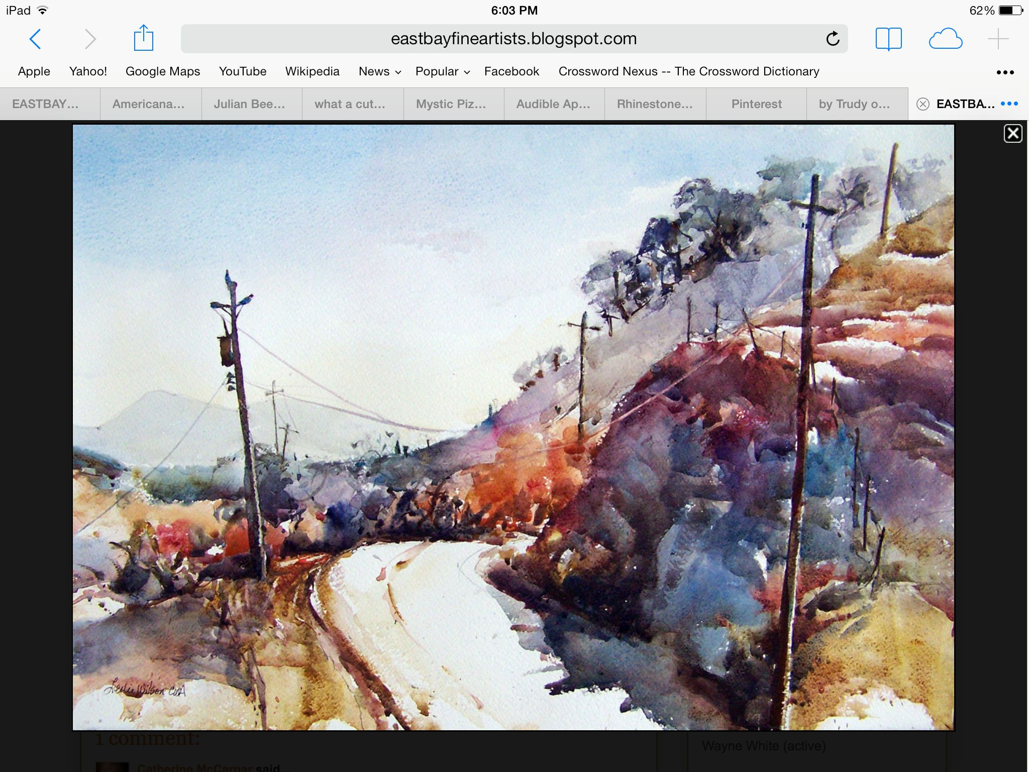 By Leslie Wilson Art Painting Watercolor