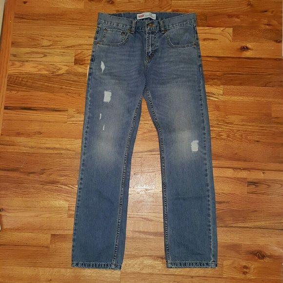"Levi's 513 Slim Straight 28""x 28"" NWT Levi's 513 Slim Straight 28""x 28"" YOUTH Size 16 Regular. Levi's Jeans Straight Leg"