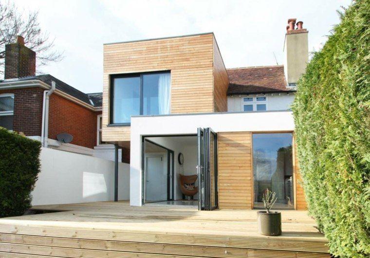 Extension maison bois  moderne et fonctionnelle Extensions and House - extension maison bois prix m2