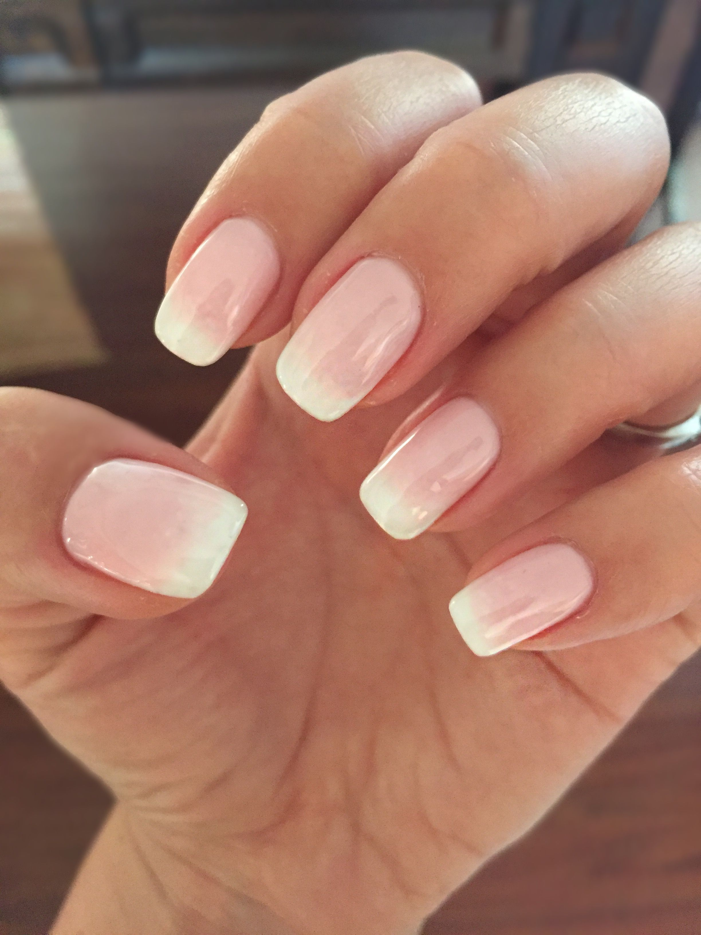 Ombre Shellac American Manicure Nails Ombre Shellac Pink Gel