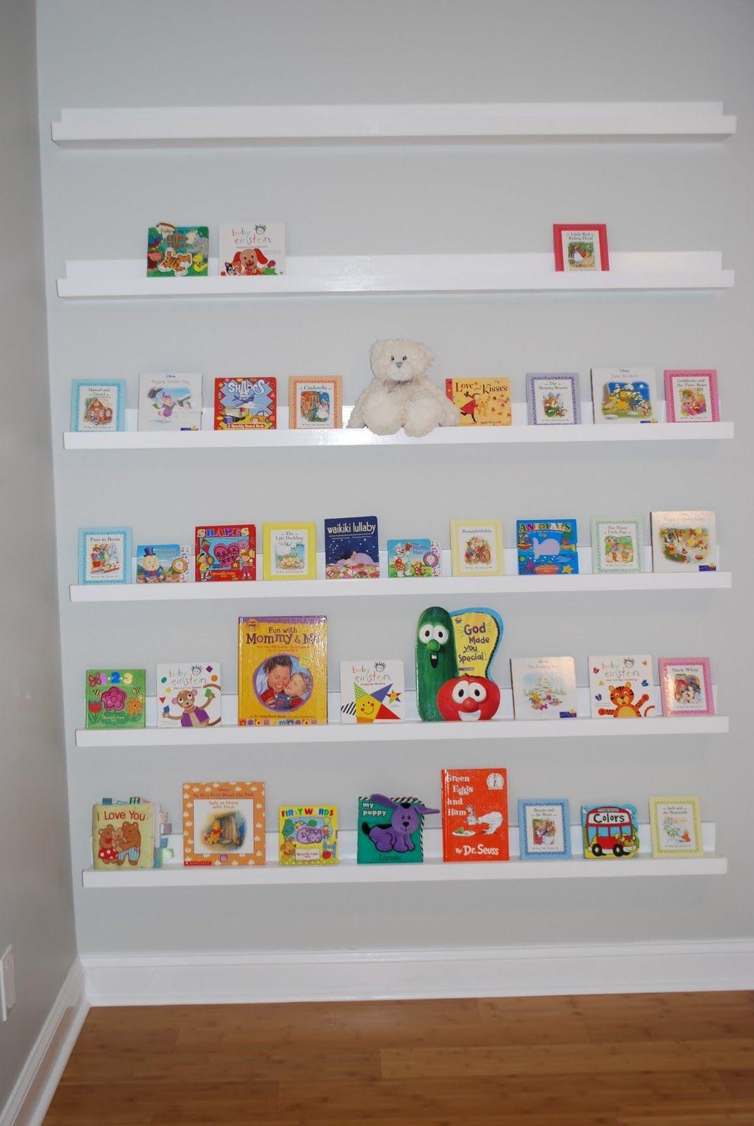 ledge shelf ideas nursery room book shelves from 10 ledge plan rh pinterest com ikea book ledge shelves ikea book ledge shelves